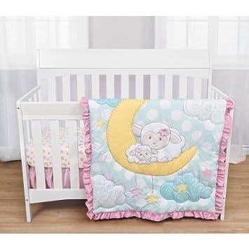 Gentil Babyu0027s First By Nemcor 3 Piece Crib Bedding Set U0026quot;Sleepy Little  Lambu0026quot;