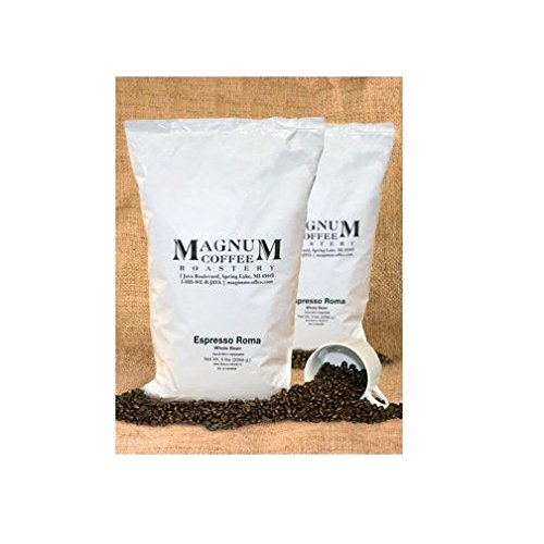 10 Total Lbs of Espresso Roma By Magnum Coffee Roasters 100% Arabica beans,Roasted in small batches, 2-5lb Bags by Magnum Coffee
