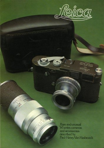 - Leica: Rare and Unusual 'M' Series Cameras and Accessories