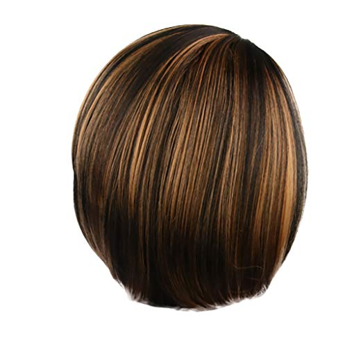 Lady Girl Short Bob Straight Hair Wigs, Thin Bang Full Hair Wig Party Cosplay Hair Wigs,Wigs Short for Black Women