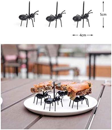 rukauf 12x Ameisen Piekser Gabel Fingerfood für Party Häppchen - Deko Party-Spiesse