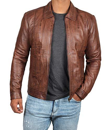 Mens John Brown Leather Jacket -