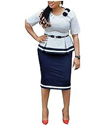 Tryist Women's Belted Office Work 2 Piece Plaid Shirt Jacket Skirt Suit