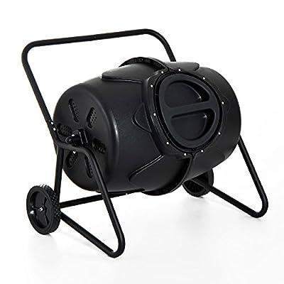 Costway 845-130 Compost Garden Soil Tumbler, 37 Gallon, Black
