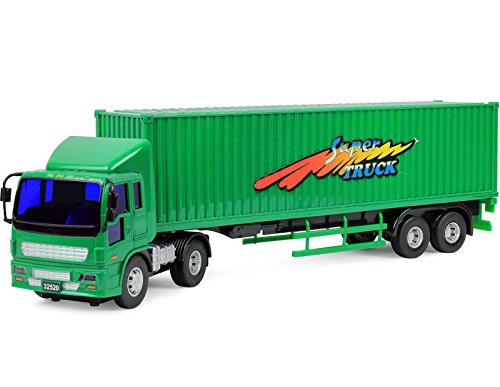 Click N' Play Friction Powered Jumbo Tractor Trailer Truck Toy Vehicle for (Tractor Trailer)