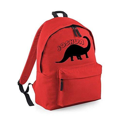 Blue Kids Embroidered Dinosaur Name Rucksack School Bag Personalised Backpack