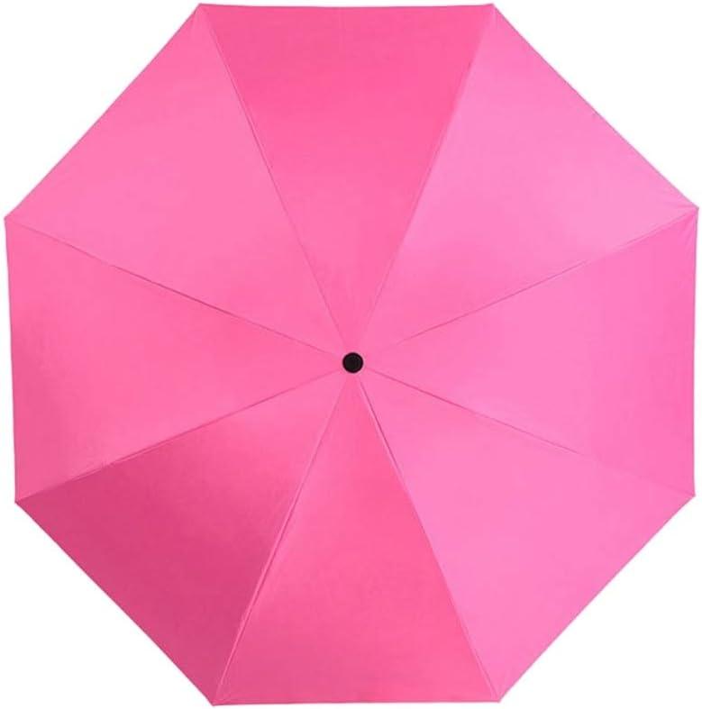 ZhiGe Umbrella Parasol,Automatic Umbrella Rain Women Black Coating Sun Folding Umbrella Kids Windproof Car Umbrella Men Parasol