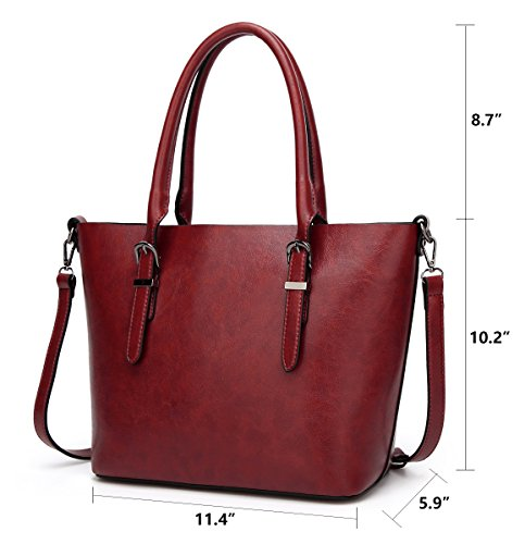 Purses Hobo 3 Bag Messenger Designer Handbags JHVYF Top Shoulder Bags Handle Wine Women Red Tote Satchel Baz7wTCq
