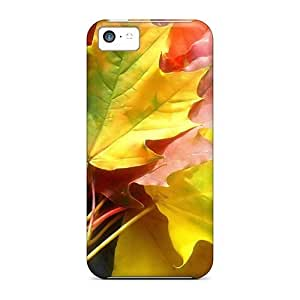 Defender Case For Iphone 5c, Autumn Colors Leaves Pattern