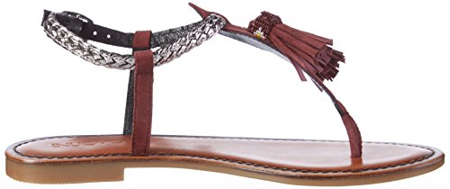 Inuovo 7308, Chanclas Para Mujer Rot (Bordeaux-Pewter)