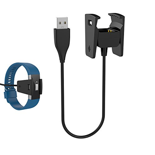 Fitbit Charge 2 Charger, GOOQ Charging Cable Clip Replacement for Fitbit Charge 2 Heart Rate Fitness Wristband