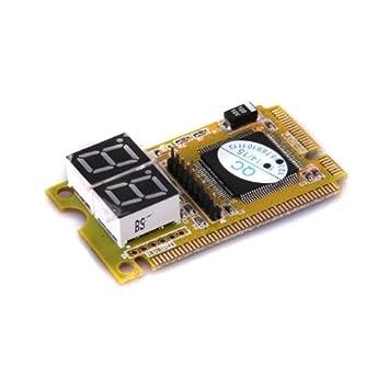 Placa Base Comprobador de Diagnóstico Mini PCI-E LPC Prueba Motherboard Ordenador Portátil: Amazon.es: Informática