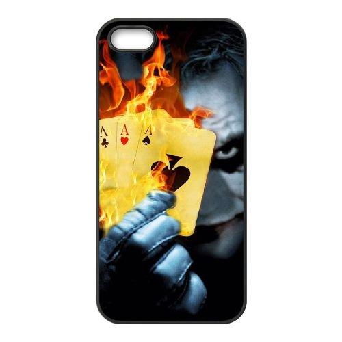 J2S56 brûlant Poker Joker F5I1HK coque iPhone 4 4s cellulaire cas de téléphone couvercle coque noire DJ9TUJ6GI