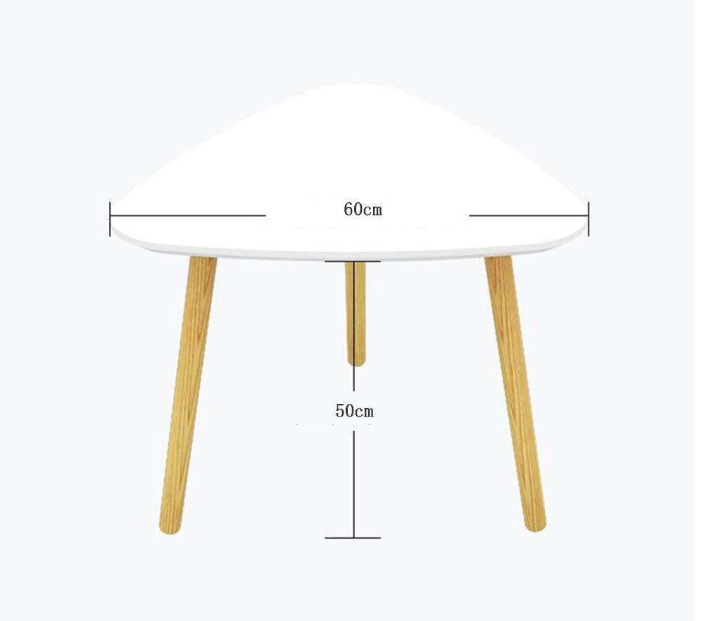 Triangle table Mesa de Centro de Madera Maciza Mesa Auxiliar pequeña pequeña Auxiliar Mesa Redonda pequeña Mesa de Centro Moderna Mesa de Cama Minimalista (Tamaño : 40CM) 98e8b4