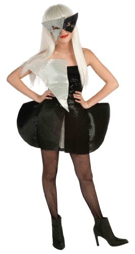 Lady Gaga Black Sequin Dress Child Costume - Tween - Lady Costumes Gaga Halloween For