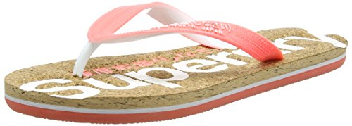 Superdry White optic Colour Cork Pop Multicolore Coral fluro Donna Infradito OwOS4azgq