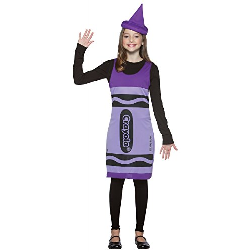 Dress Sky Crayola Child Tank Costumes Blue (Crayola Crayon Tank Dress Tween Costume Wisteria Purple -)