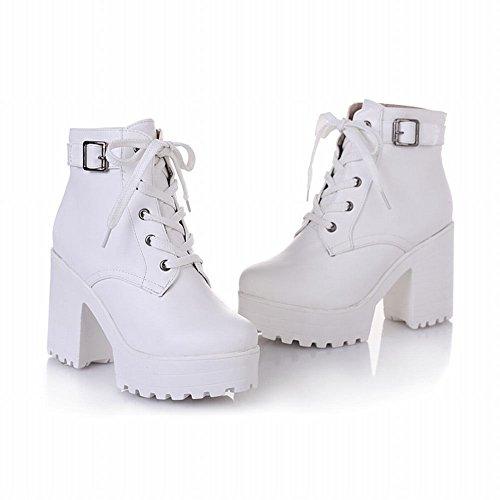 White Heel Platform Women's Oxford Latasa Block Boots qHPHZYt