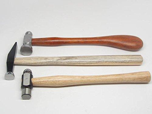 3 Chasing Hammer Repousse Silversmithing Goldsmithing Tools Ball Peen