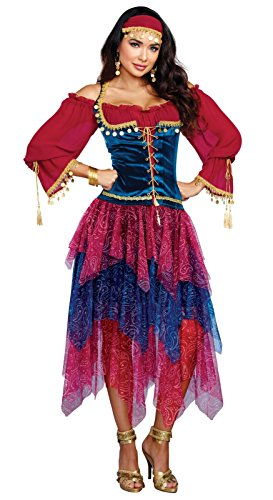 [Dreamgirl Women's Gypsy, Multi, S] (Girl Gypsy Costumes)