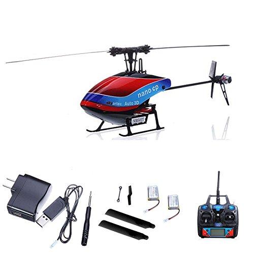 6-Kanal 2.4GHz Wasp CP Auto 3D Flybarless-Edition RC ferngesteuerter Helikopter, Heli mit neuester Gyro-Technik, Ready-to-Fly, Hubschrauber mit 2,4GHz-Technik, RTF inkl. Mega Ersatzteil-Set