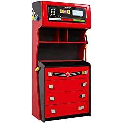 Cilek 20.35.1201.00 GTS Gas Pump 4 Drawer Chest with Extra Storage, Red