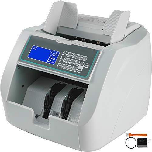 BestEquip 900 Model Money Counter Machine with UV/MG Detection 1000 Bills Per Minute Bill Counting 300PCS Capacity Hopper with LCD Display and an External Display Home and Business Use