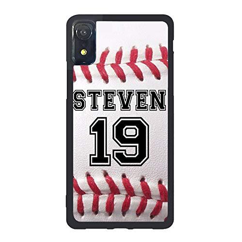 FIDIKO Baseball Hard Back Compatible iPhone XR, Retro Personalized Number Name Hard Plastic Durable | Anti Dust Back Cover Compatible iPhone XR
