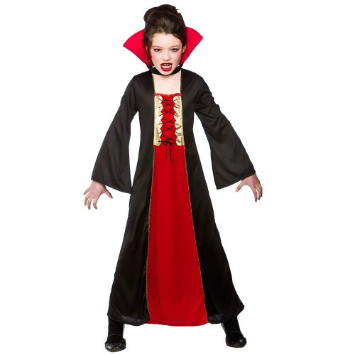 Gothic Vampire Enfant Halloween / Carnaval Costume Taille Grand 8-10 ans (134-146cm)