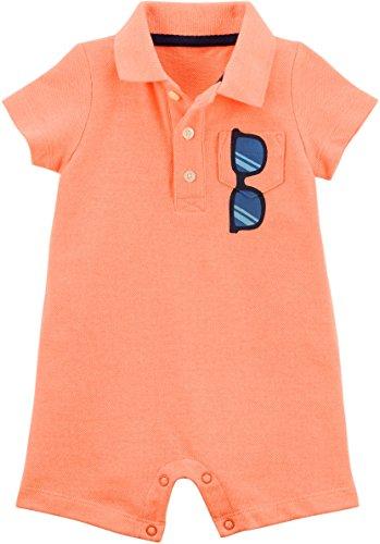 Carter's Baby Boys Polo Romper Sunglasses on Pocket