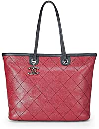 ecb6a082b6d2 Red Quilted Caviar Paris-Biarritz Tote (Pre-Owned) · CHANEL