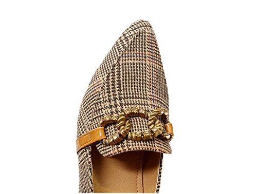 pista zapato shoes CXSM de decorado yellow con irregular cadenas metal S57vvwtqO