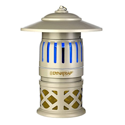 DynaTrap 3-Way Protection, Twist On/Off Insect Trap, 1/2 Acre Coverage 2 Extra UV bulbs included for a full year of operation by Dynatrap