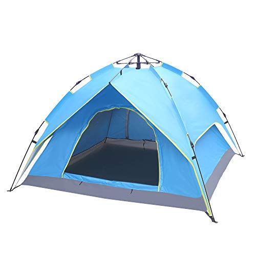 SoSo-BanTian1989 Camping Tent,Instant Pop Up Tent with Sun Shelter for Hiking Picnic Backpacking Beach, Waterproof UV Protection Blue