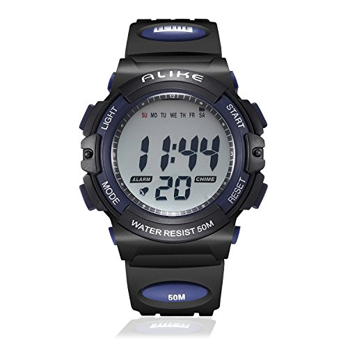 Kids Digital Sport Watch, Boys Outdoor Cool Waterproof Watches with Chronograph, Alarm, Stopwatch, Calendar Date Children Girls Electronic Watch – Blue