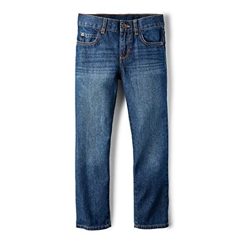 The Children's Place Big Boys' Straight Leg Jeans, DK Jupiter 5867,8