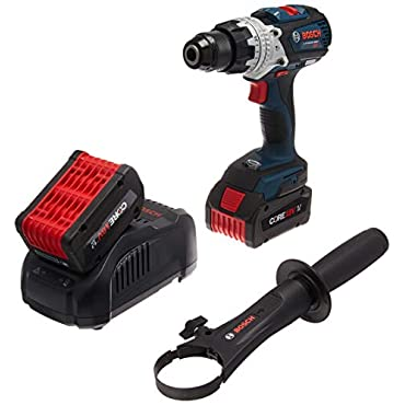 Bosch HDH183-B24 CORE18V Brushless Brute Tough Hammer Drill/Driver with Two 6.3Ah Batteries