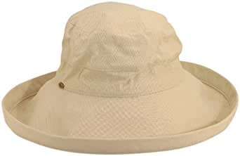 Scala 100% Cotton Sun Hat - Natural - One Size