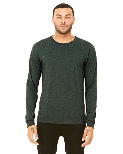 Heather Forest - Bella + Canvas Unisex Jersey Long-Sleeve T-Shirt - HEATHER FOREST - S - (Style # 3501 - Original Label)