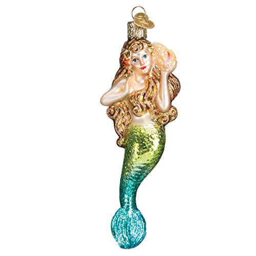 Fish Old World Christmas Ornament (Old World Christmas Mermaid Glass Blown Ornament)