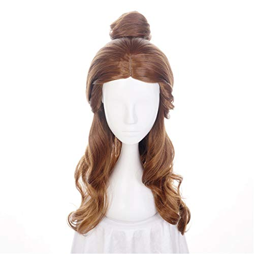 Princess Synthetic Hair Wig With Bun Hairstyle Halloween Costume Party Cosplay -