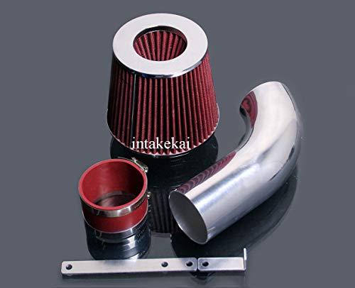 (PERFORMANCE SHORT RAM AIR INTAKE KIT + FILTER FOR 2005-2007 VOLKSWAGEN GOLF GTI 2.0 & 2006-2008 VW JETTA PASSAT AUDI A3 2.0L L4 Turbocharged ENGINE (RED))