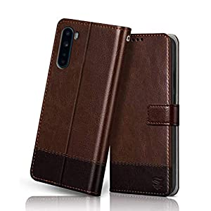 FLIPPED Vegan Leather Flip Case Back Cover for OnePlus Nord (Flexible, Shock Proof | Hand Stitched Leather Finish | Card…
