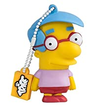 Tribe FD003411 Simpson Springfield Pendrive Figure 8 GB Funny USB Flash Drive 2.0 Memory Stick Data Storage, Keyholder Key Ring, Milhouse, Yellow