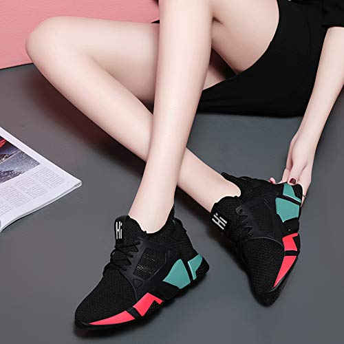 Verano Deportivo Transpirable el Venda Correr Zapatos y para el de Color 38 de Tejido Cuarenta Casual Zapatos Mujer otoño Calzados AJUNR Deportes Invierno gnEp7tt
