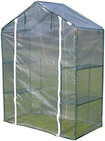 ビニールハウス 温室テント、ウォークイン温室、重い保護カバー、花の植栽、防雨や霜に強い加熱小屋で、140×70×195のCm