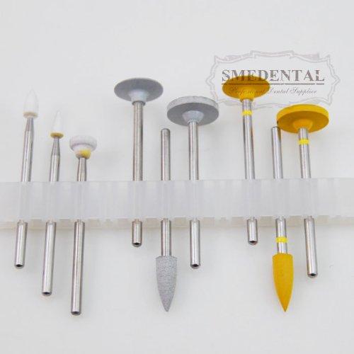 HP 0212 Dental Porcelain High Polishing Kits Used for Low-Speed 9 Pcs