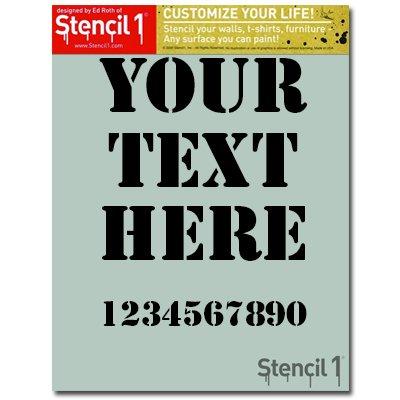 amazon com custom vertical stencil 8 5 x11 customize your own