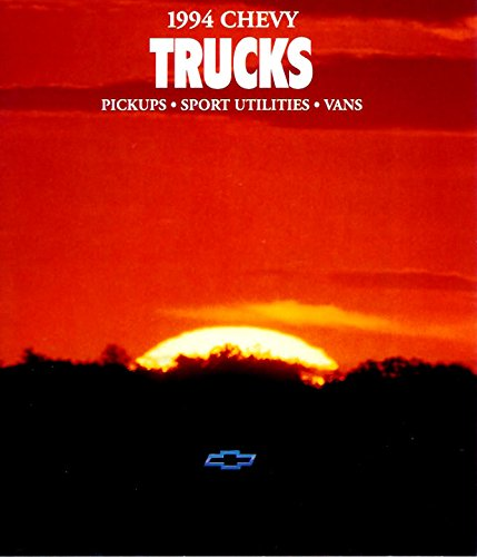 VERY COLLECTIBLE ORIGINAL 1994 CHEVROLET CHEVY PICKUP SUV & VAN FULL LINE DEALER SALES BROCHURE - C/K Pickup, S-Series Pickups, S-Blazer, Blazer, Suburban, Lumina Minivan, Astro