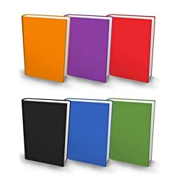 5 Pack of Jumbo Stretchable Book Cover - Solid Colors